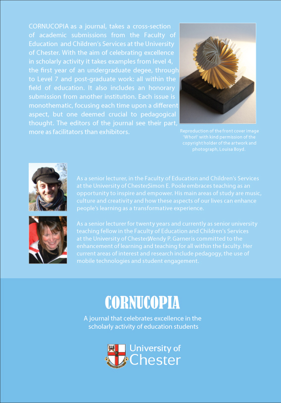 Cornucopia - Issue 1: A Journal That Celebrates Excellence In The Scholarly Activity Of Education Students